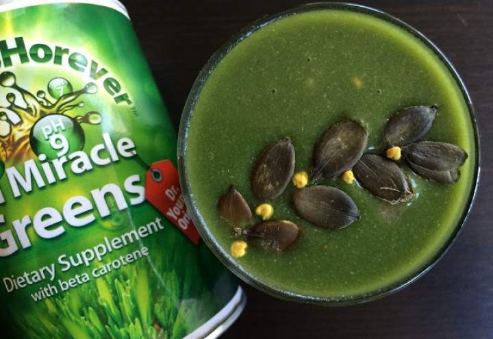 jabłko + cytryna + awokado + imbir + warzywa w proszku