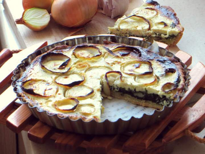 Tarta bez masła, ze szpinakiem i serem