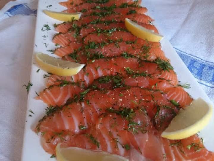 przepis na łososia według litewskiego rybaka czyli carpaccio z Pałangi