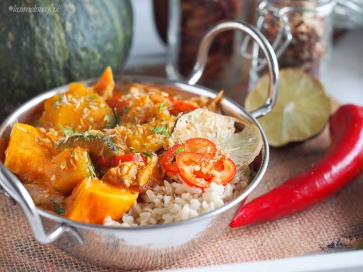 Jesienne curry z dynią i kurczakiem / Pumpkin and chicken fall curry