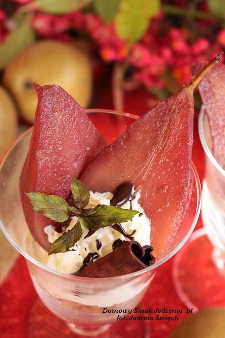 gruszki w winie – deser dla dorosłych ;)