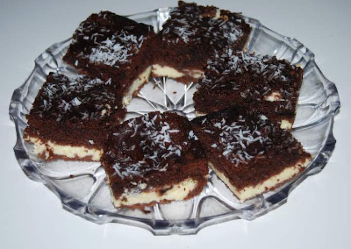 Ciasto Izaura -sernik w murzynku