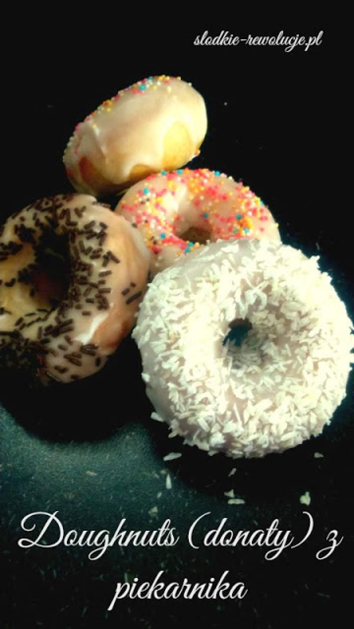 Doughnuts (donaty) pączki z piekarnika