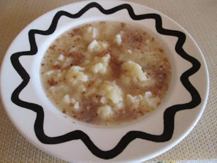 Zupa kalafiorowa na otrębach