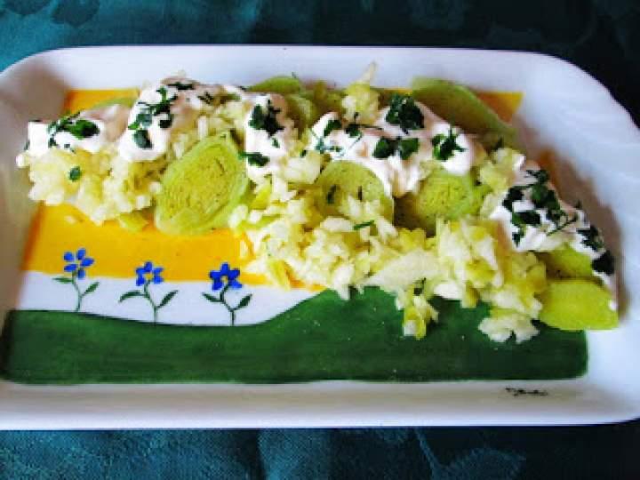 Surówka z pora w majonezie