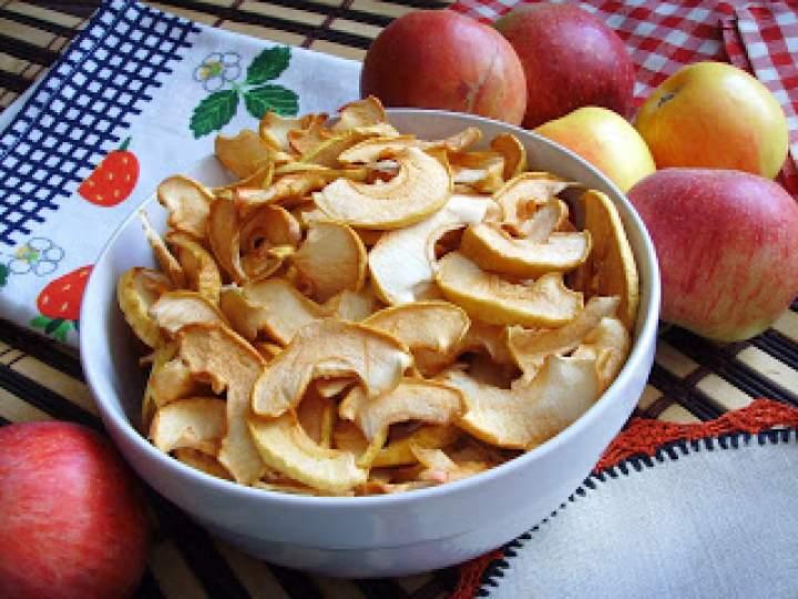 Jabłka suszone. Chipsy z jabłek.
