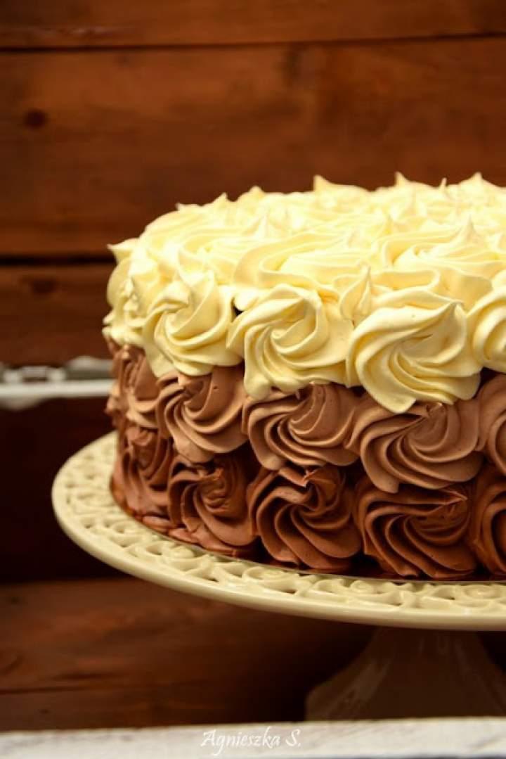 Tort czekoladowy ombre