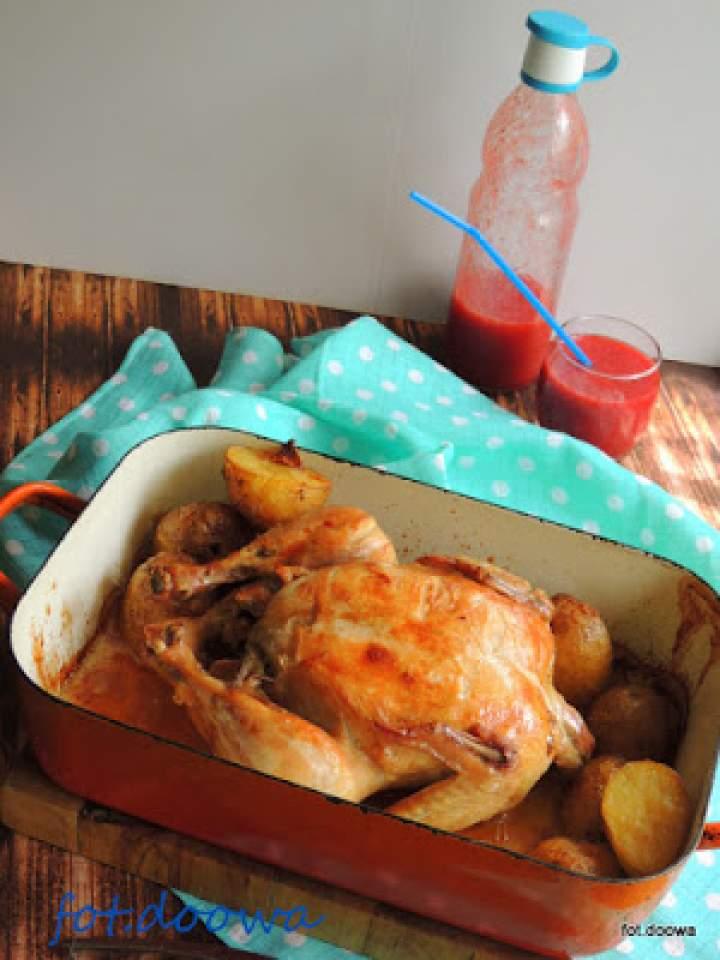 Kurczak czosnkowo – ostrygowy