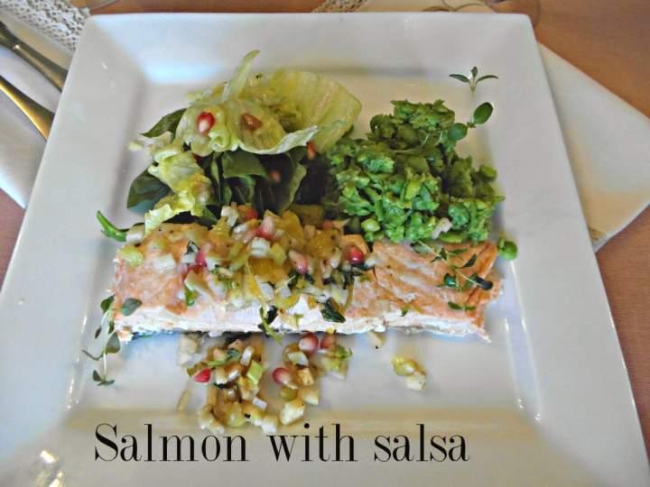 Dietetyczny łosoś z salsą – Salmon with salsa