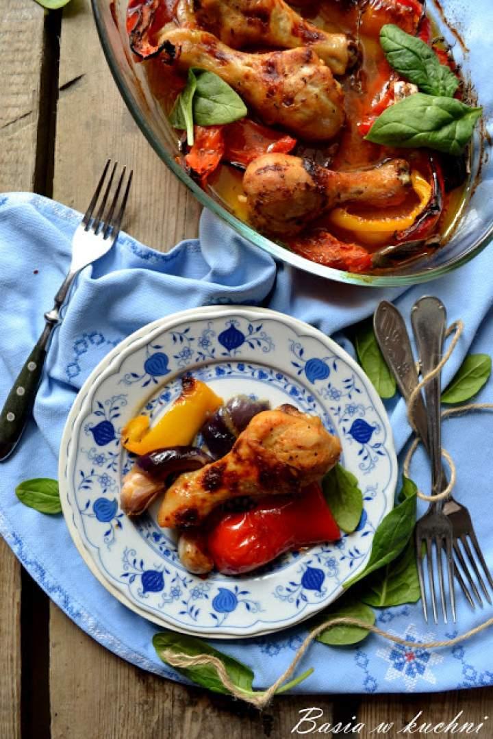 Pieczony kurczak z warzywami – przepis