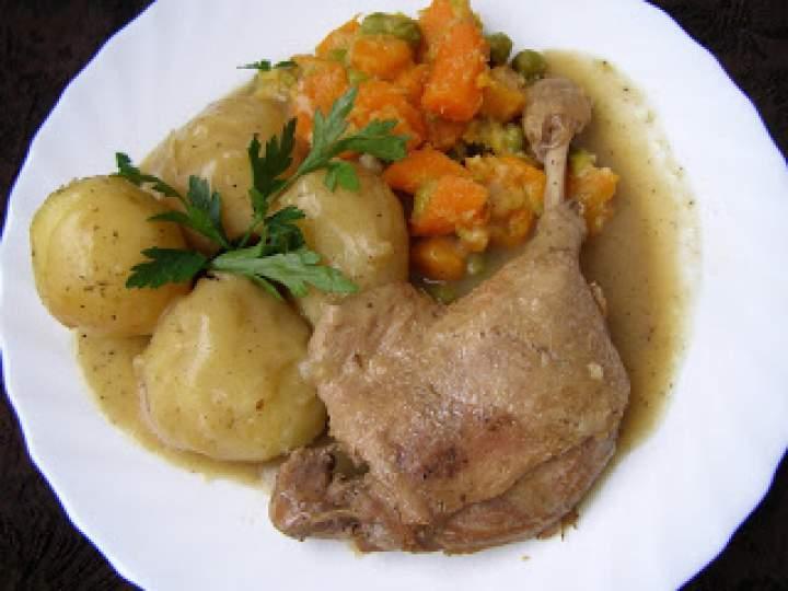 szybkowar-kacze udka z ziemniakami i cebulą duszone…