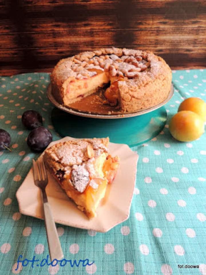 Torta della nonna czyli włoskie ciasto z polskimi śliwkami