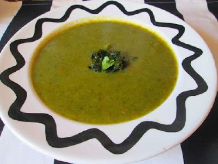 Zupa przecierana z jarmużem