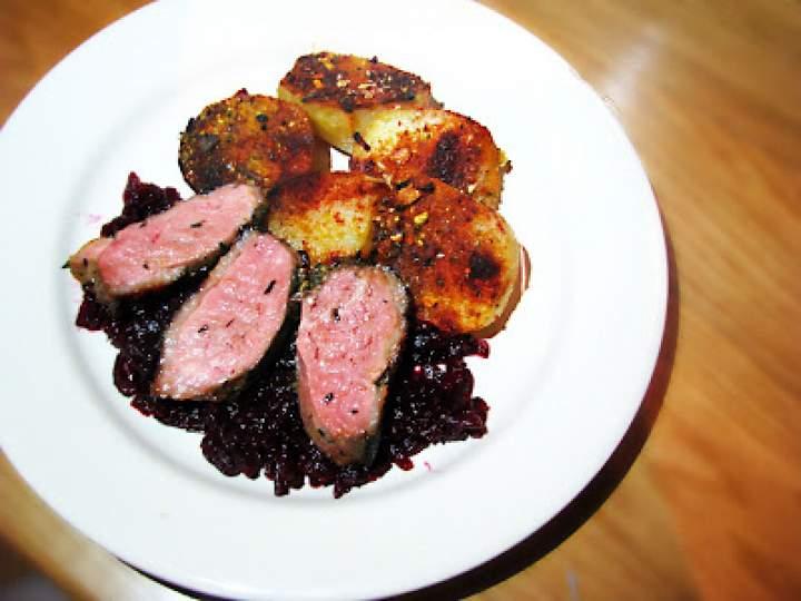 Upieczony obiad – pierś z kaczki i ziemniaczki