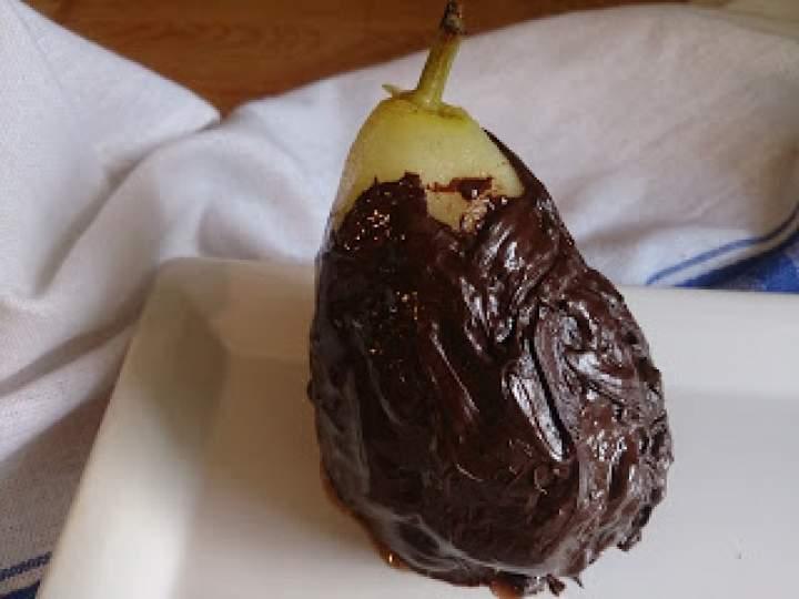 gruszki w gorzkiej czekoladzie