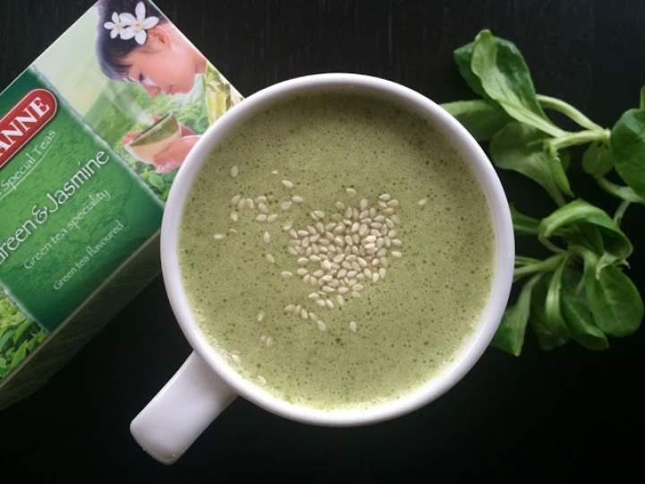 roszponka + banan + zielona herbata + sezam