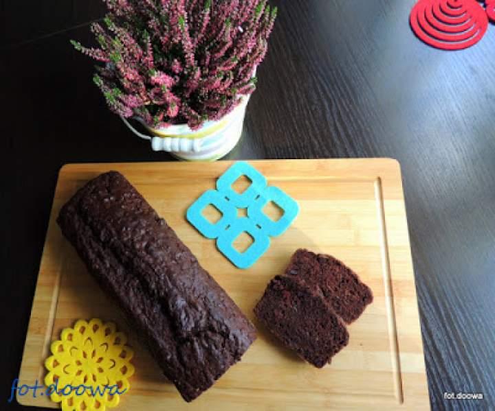Podwójnie czekoladowy chlebek bananowy