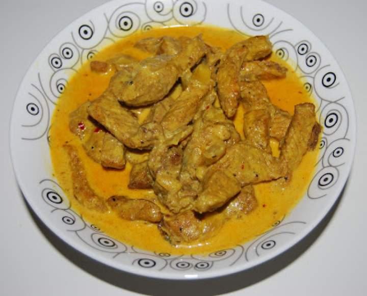 Schab w sosie curry