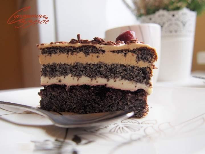 Nieco odchudzony tort makowy z kawową nutką