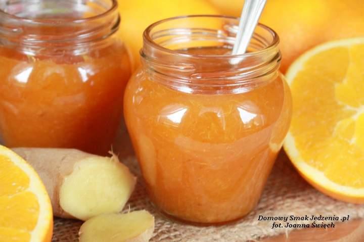 dżem pomarańczowy z imbirem