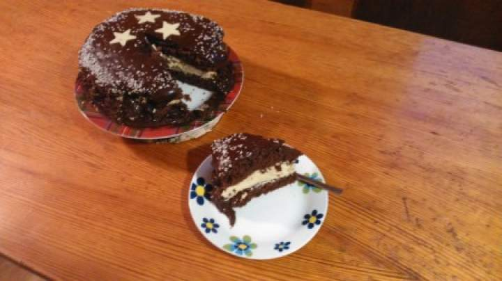 tort z kremem cappuccino