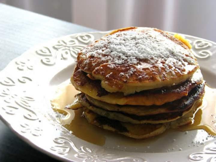 Lekkie śmietankowo-bananowe pancakes