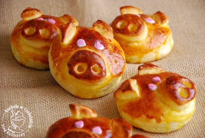Słodkie drożdżówki- świnki
