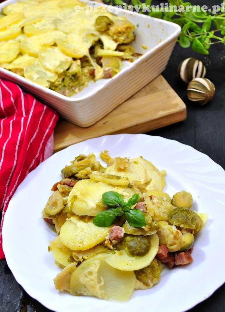 Zapiekanka z ziemniakami i brukselką