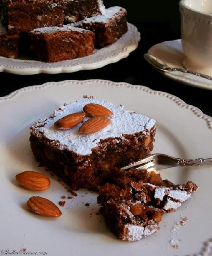 Ciasto Czekoladowe z Migdałami (Brownies z Migdałami)