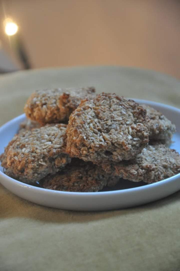 Zdrowe ciasteczka kokosowo – owsiane (bez cukru i masła)
