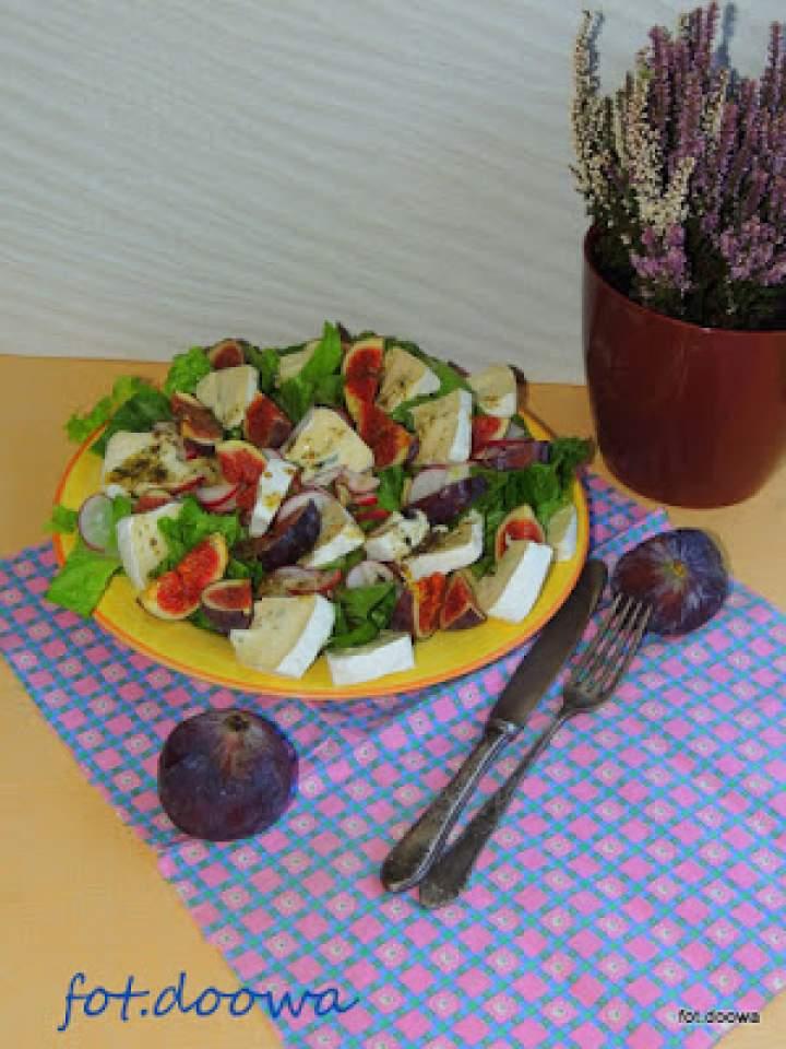 Jesienna sałatka z figami