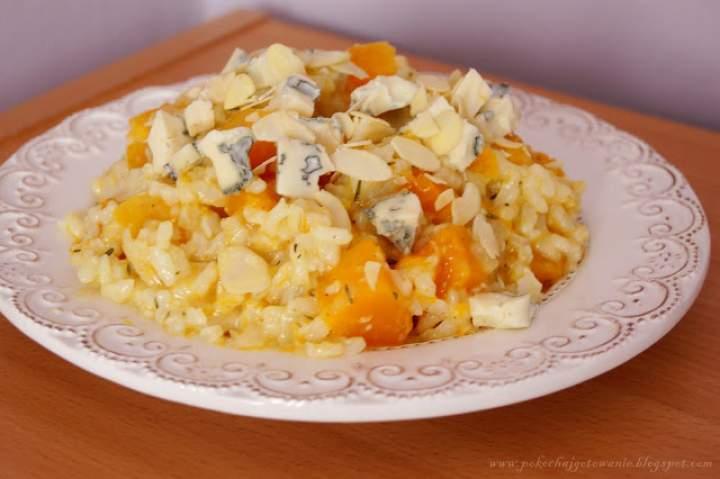 Risotto z dynią i serem pleśniowym