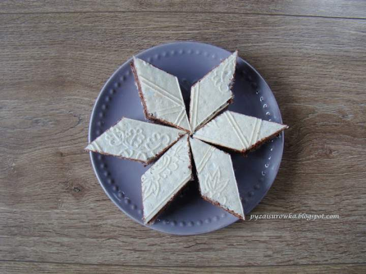 Domowy wafel czekoladowy bez mlek w proszku