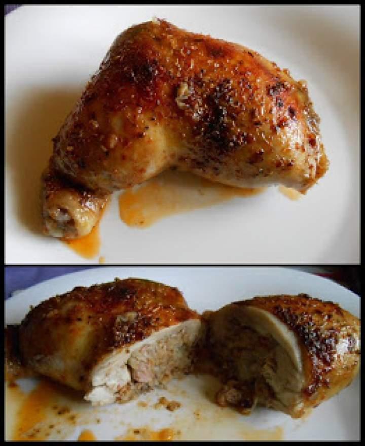 Udka kurczaka faszerowane kaszą gryczaną