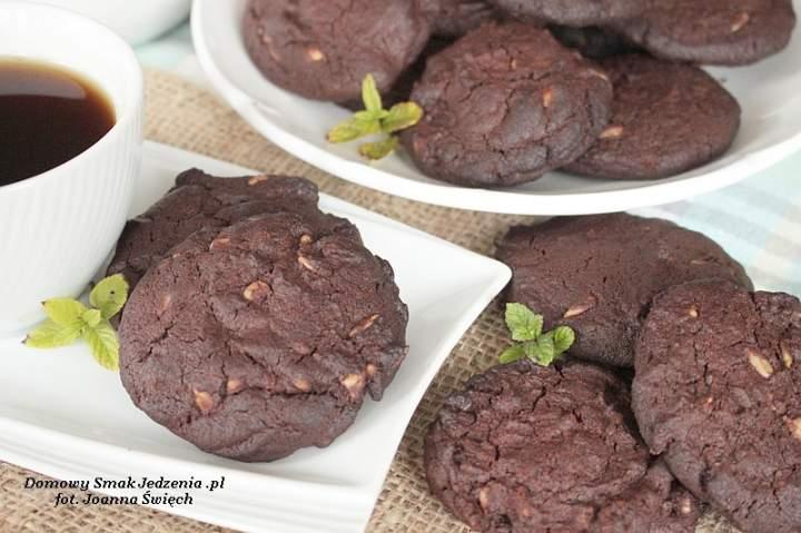czekoladowe ciasteczka ze słonecznikiem