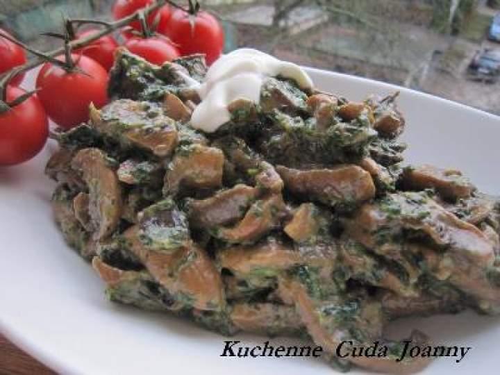 Potrawka Pieczarkowa ze Szpinakiem