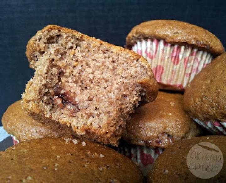 Piernikowe muffiny pełnoziarniste