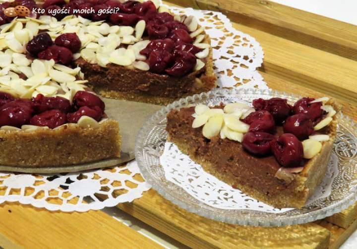 Tarta z kremem jaglanym bez pieczenia (Zdrowe słodycze #5)