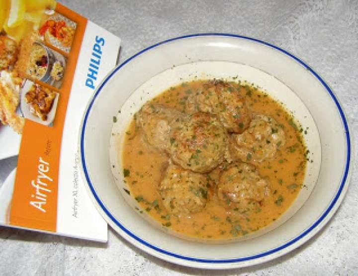pyszne klopsiki w sosie pomidorowym:Airfryer hd9240/30