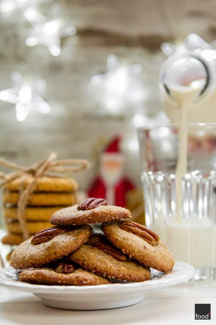 Ciastka z orzechami pekan dla Świętego Mikołaja