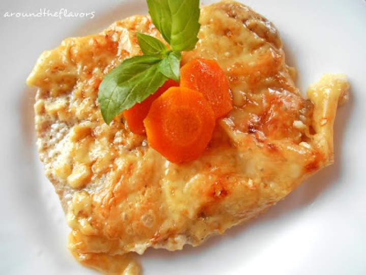 Schabowe pieczone z marchewką i serem
