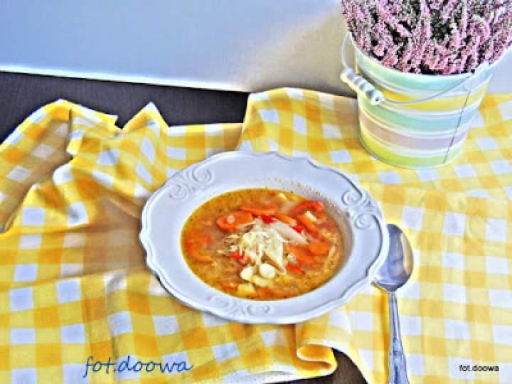 Zupa kapuściano – paprykowa