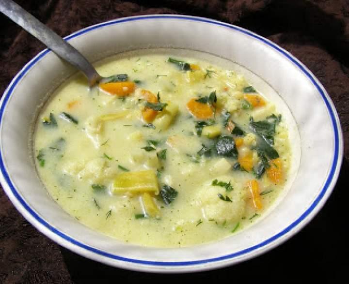 szybka, smaczna zupa warzywna na maśle i śmietanie…