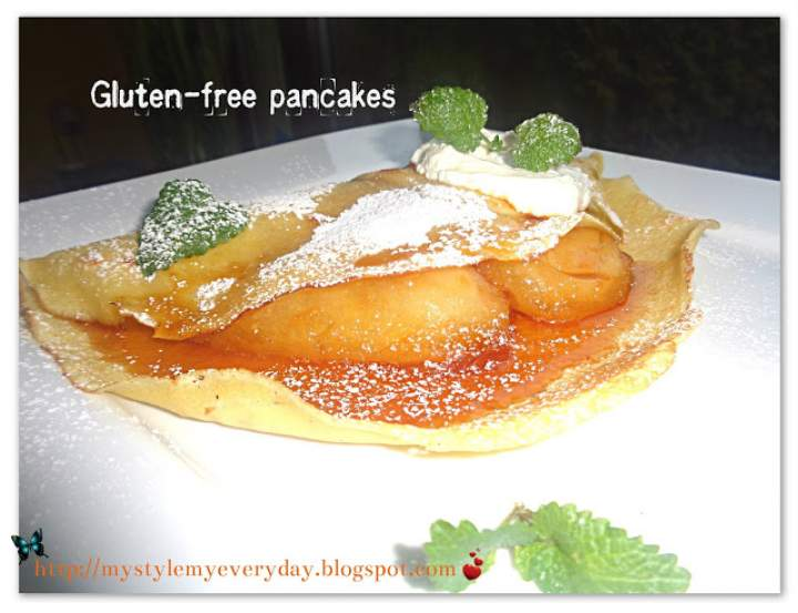 Bezglutenowe naleśniki z karmelizowanymi gruszkami – Gluten-free pancakes
