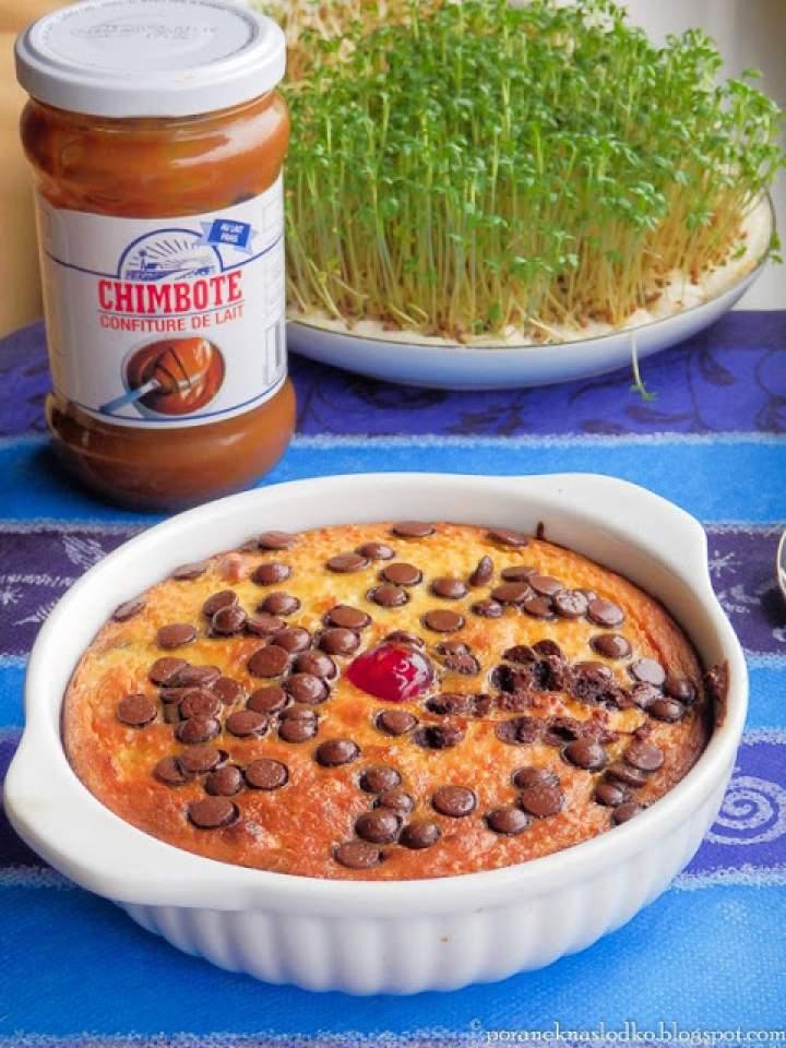 Pieczona quinoa, krówka i sernik w jednym.