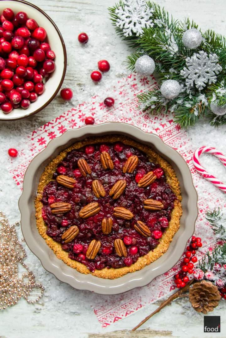 Mincemeat pie – bożonarodzeniowa tarta z żurawiną i orzechami pekan