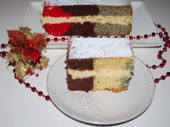 Ciasto cztery smaki z masą serową
