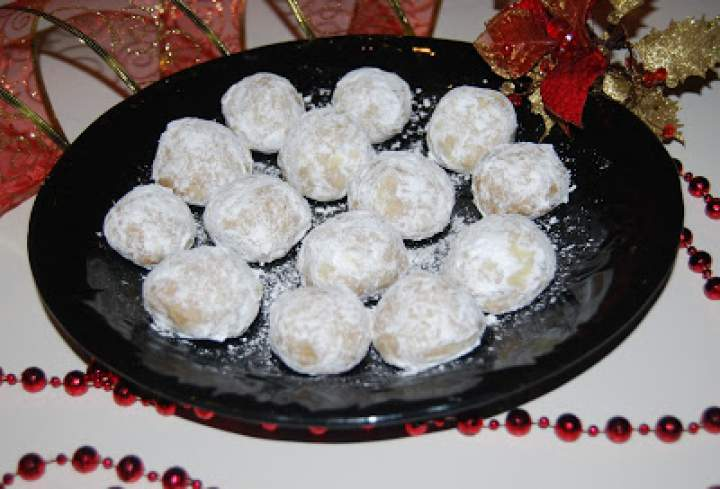 Śniegowe  kule- ciasteczka