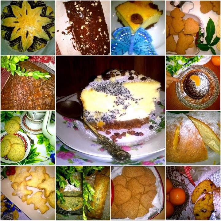 Świąteczne wypieki. Ciasta, pierniczki, ciasteczka i inne słodkości na świąteczny stół.