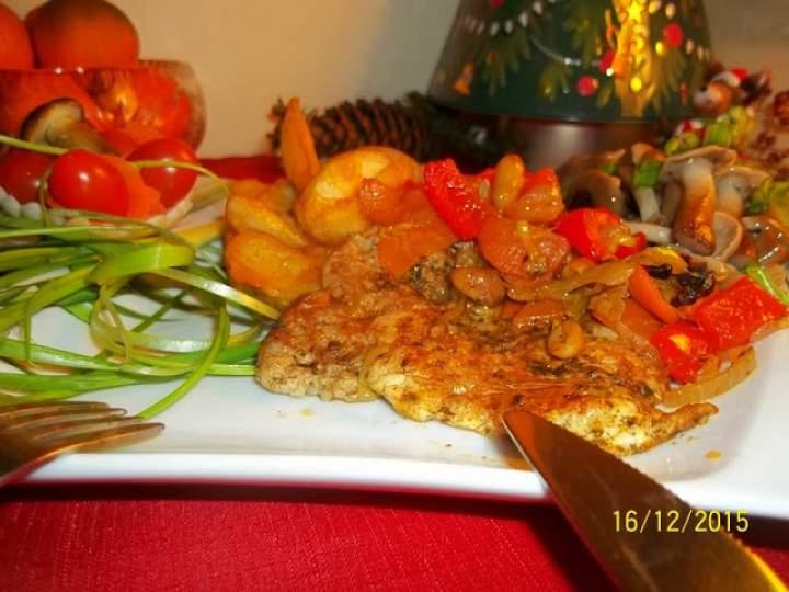 Schab w warzywach